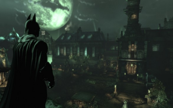 Batman overlooking asylum