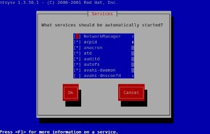 CentOS Services setup