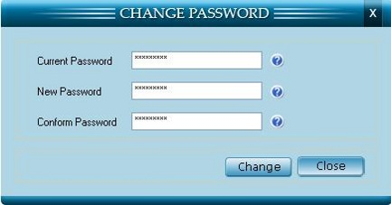Change password window