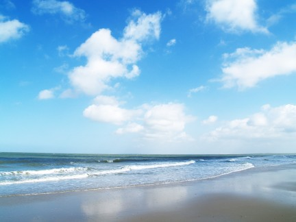 clouds on the beach