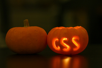 CSS carved in a pumpkin