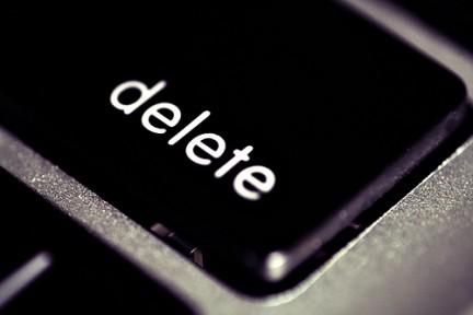 delete key on keyboard