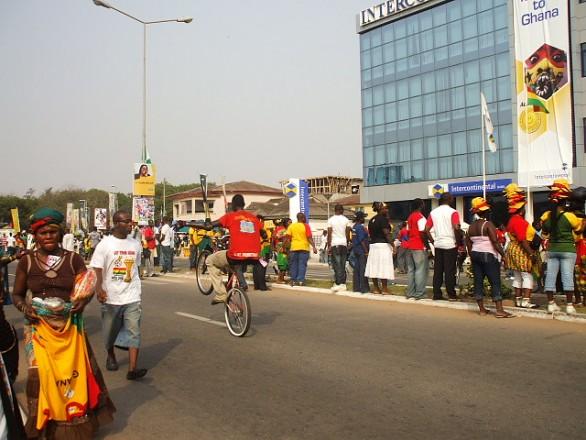 Ghana outside Ohene Djan Stadium