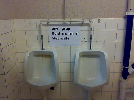 Grep command on a toilet