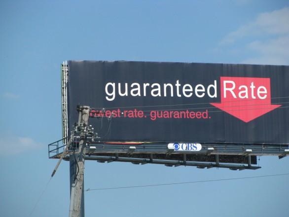 Billboard saying Guaranteed Rate