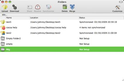 iFolder running on Mac OS X