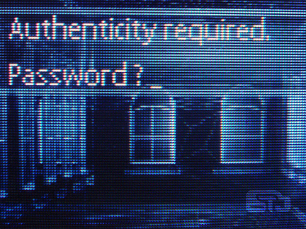Authentication required password