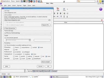 Nvu- the free WYSIWYG HTML editor