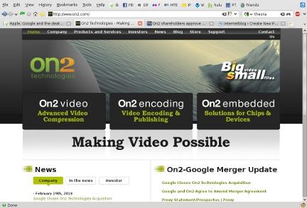 On2 Tech website screenshot