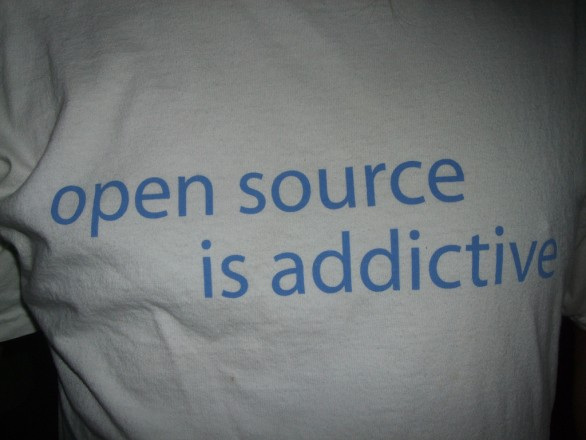 Shirt with Open Source Is Addictive