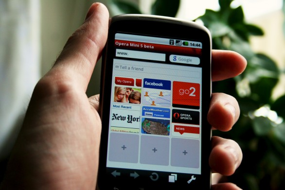 Opera mini browser on phone