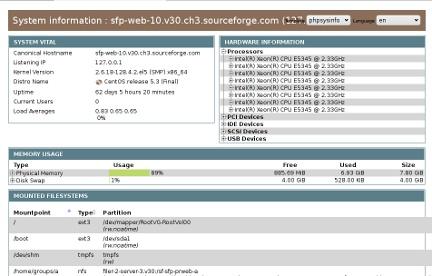 phpSysInfo screenshot