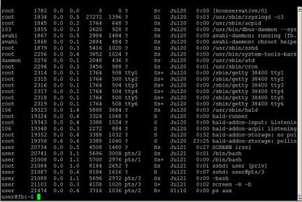 ps command in Debian