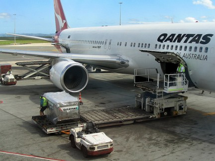 Plane Qantas on Qantas Plane