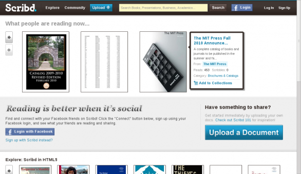 Scribd screenshot