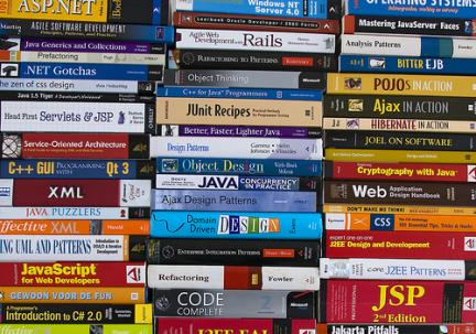 Stack of scripting books