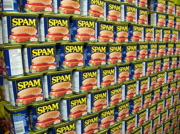 Wall of real spam