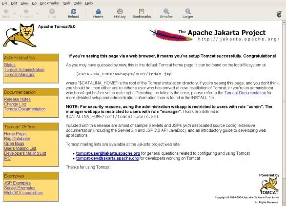 Apache Tomcat default page