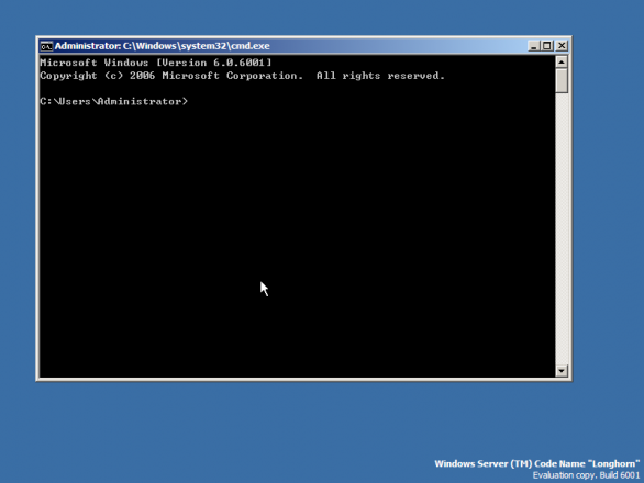 Windows server 2008 core installation