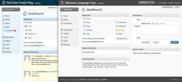 Wordpress screenshots