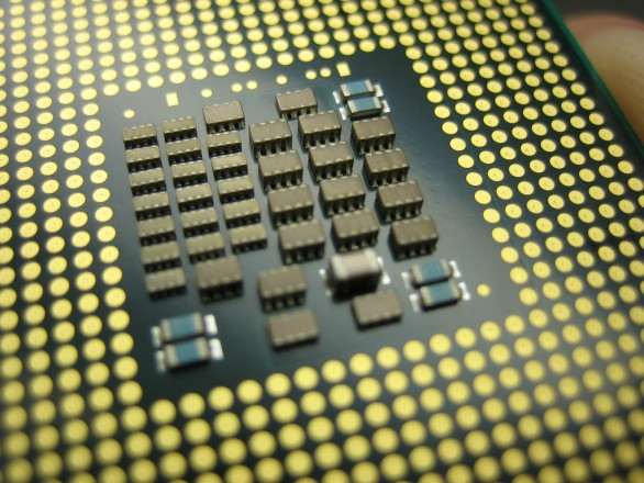 Up close Xeon processor